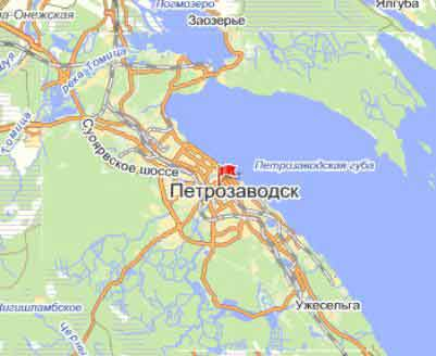 Карта Петрозаводска и его